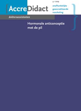 Hormonale anticonceptie met de pil