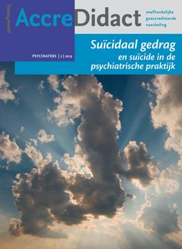 Suïcidaal gedrag en suïcide in de psychiatrische praktijk